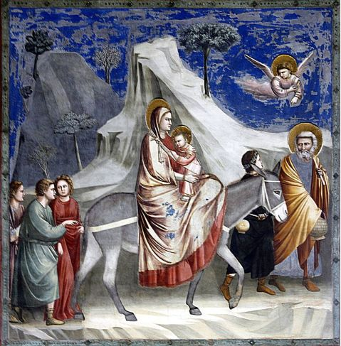 Flight into Egypt, Giotto